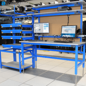 Tech Lab Workstation with Server Racks