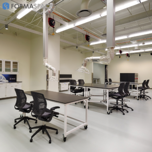 chemical resistant workstations for denver museum