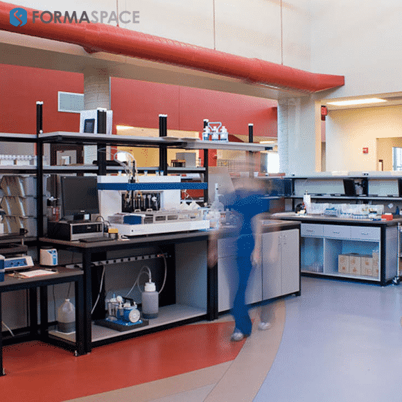 custom workbenches for a clinical testing laboratory