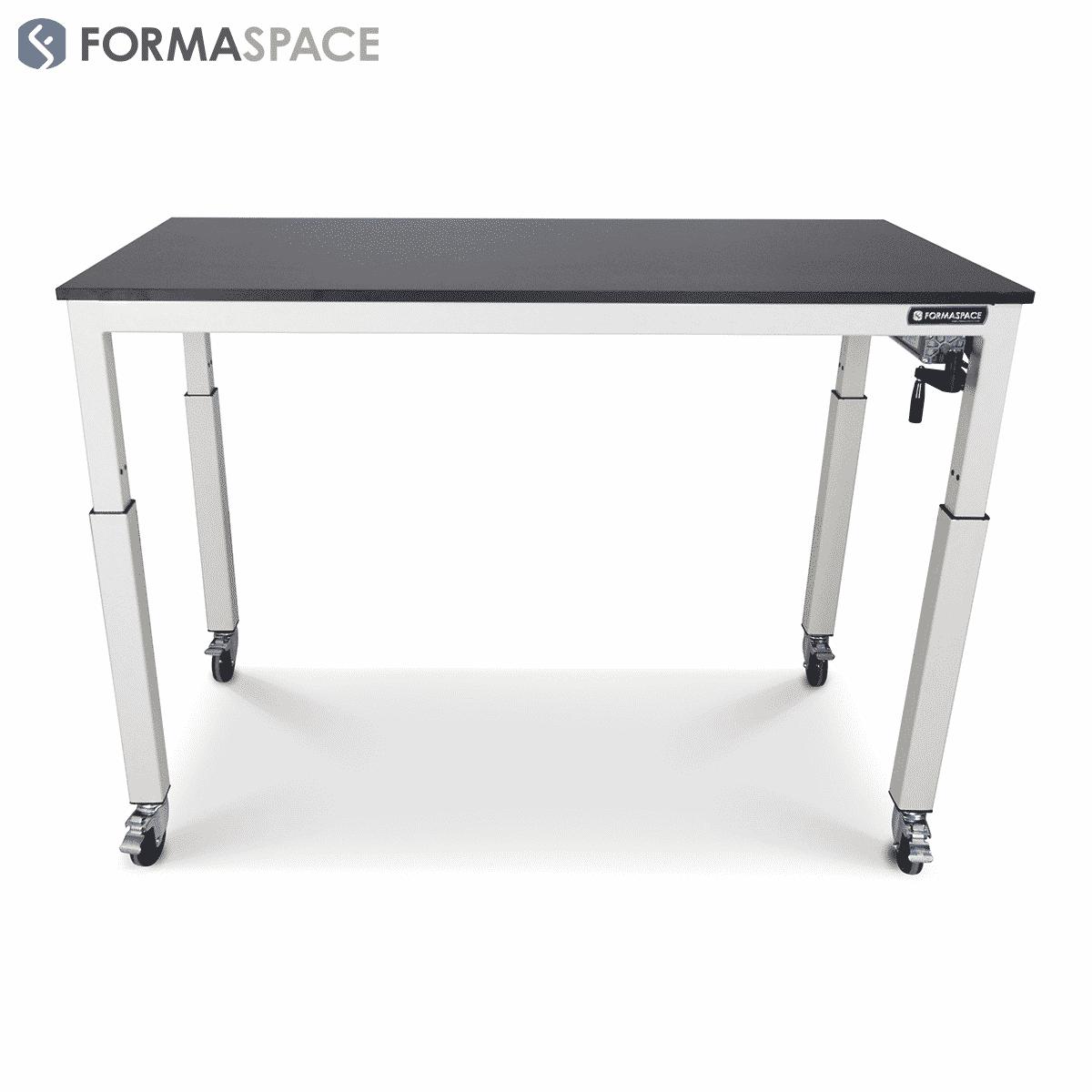 ergonomic student lab table phenolic top