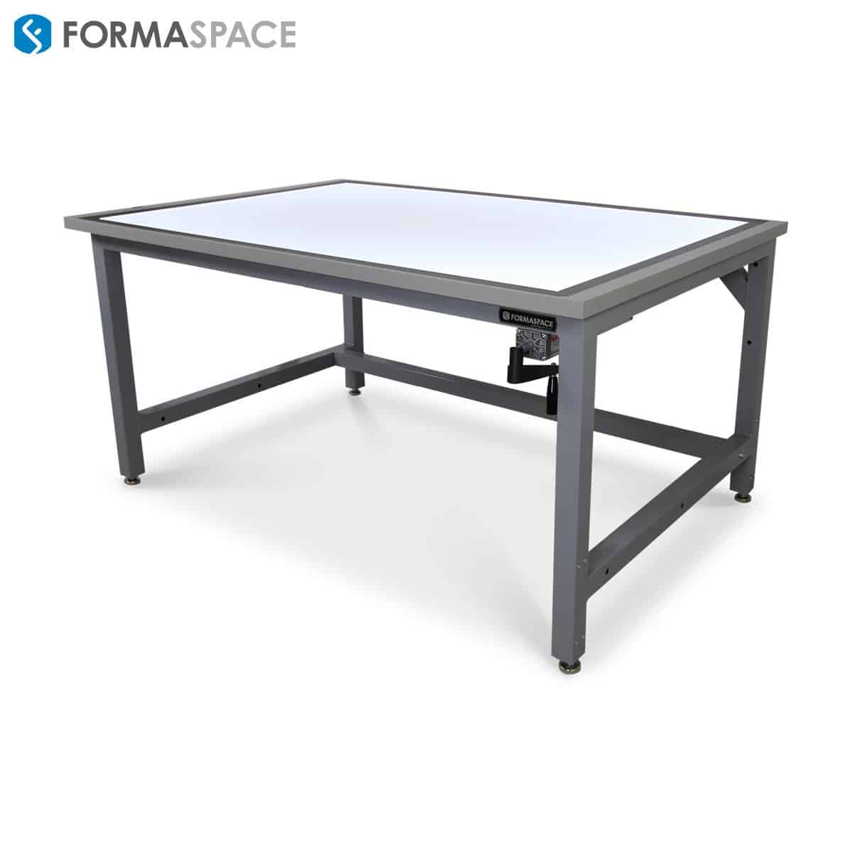 height adjustable custom drafting table