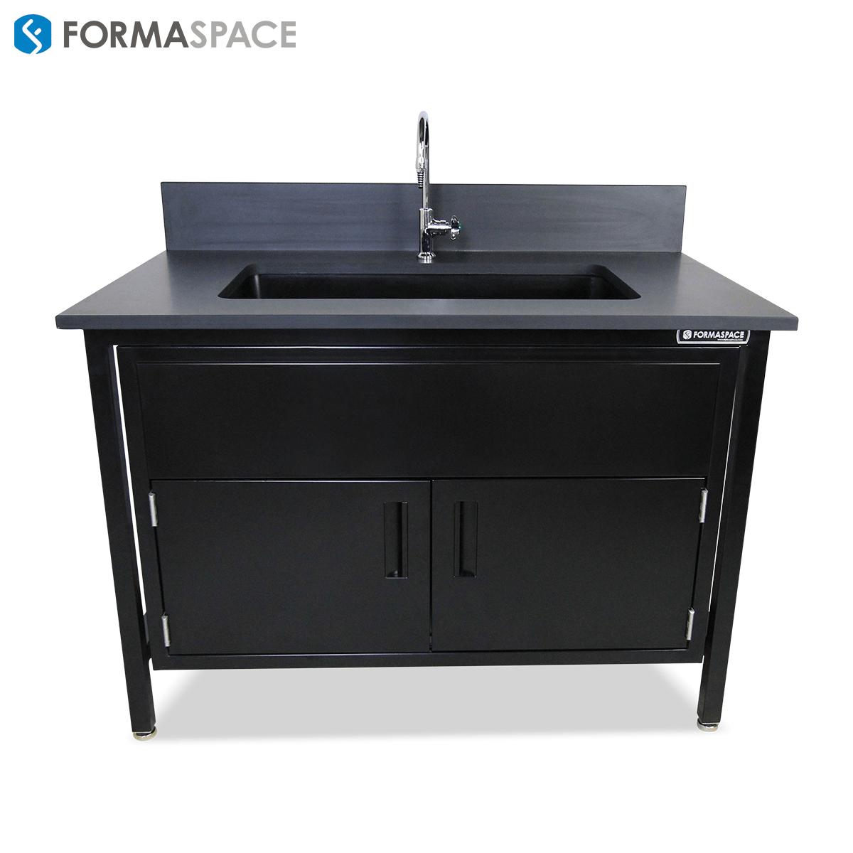 Epoxy Sink with Steel Cabinet | Formaspace
