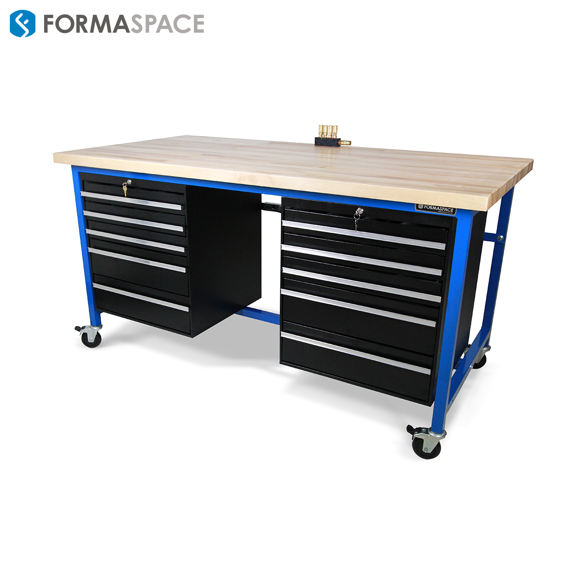 Maple Top Steel Tool Box With Embedded Vacuum