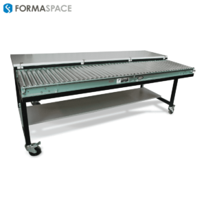 removable table top with conveyor underneath