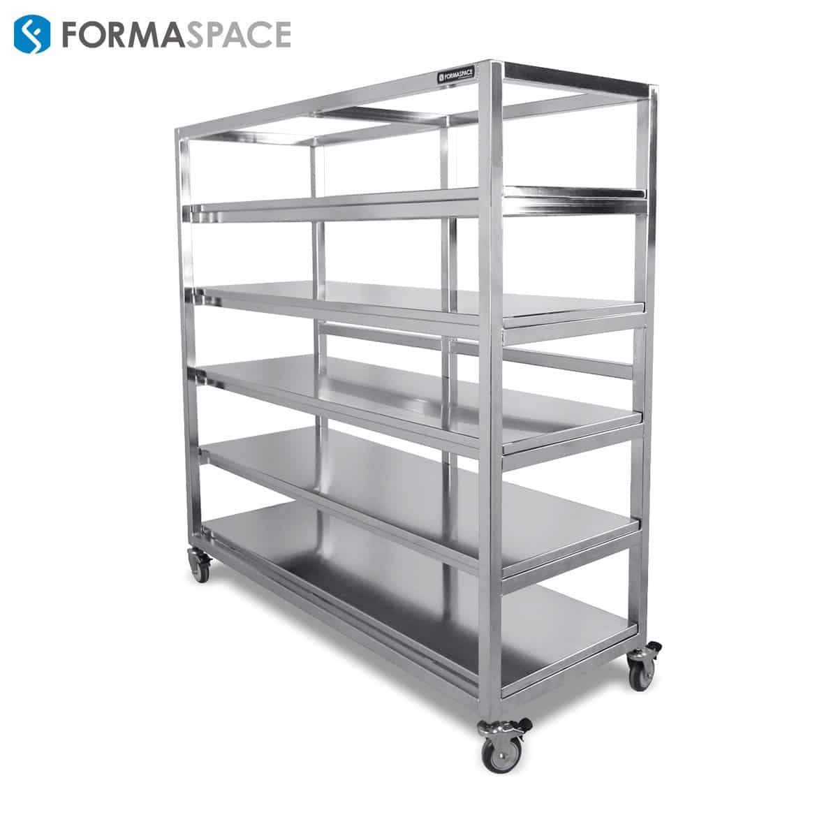 mobile stainless steel shelving system