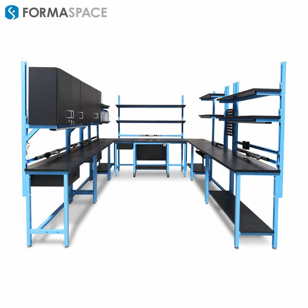 U Shaped Modular It Station Formaspace