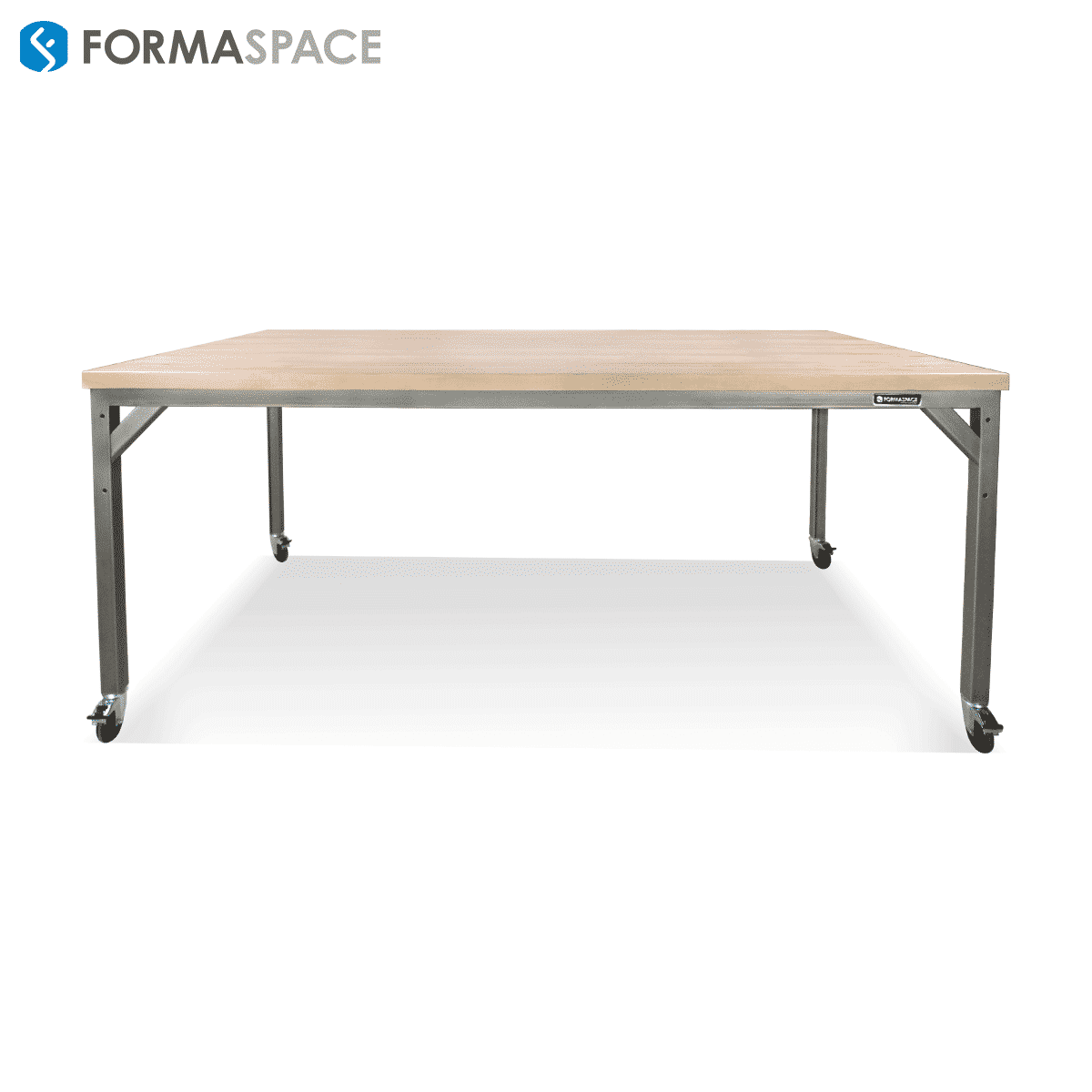 bar height industrial table on wheels