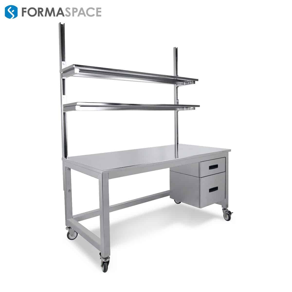 Stainless Steel Benchmarx with 2 Drawers