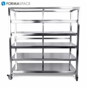 Mobile Stainless Steel Shelf Cart