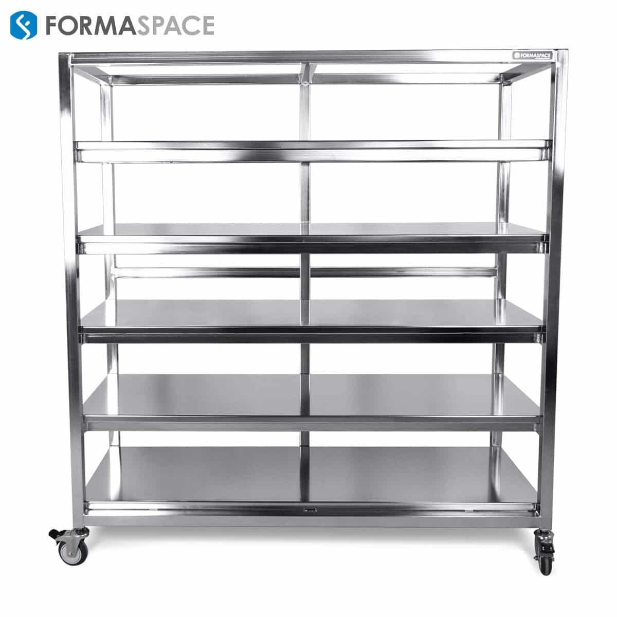 stainless steel fixed shelving system