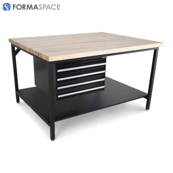 solid maple wood top island tool bench