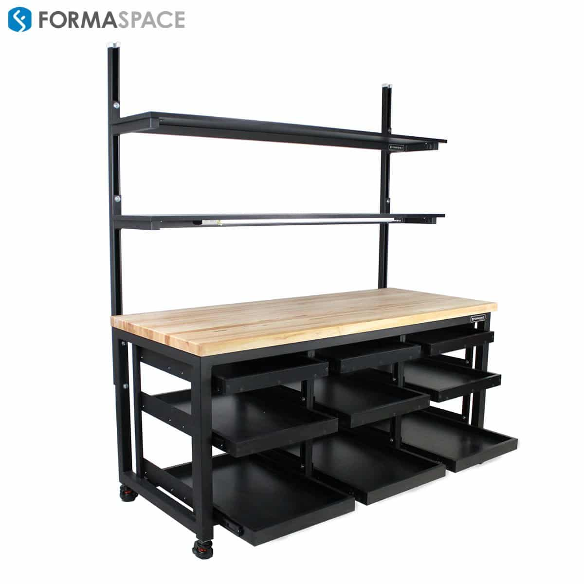 Under Mount Pull Out Shelves On Benchmarx Formaspace