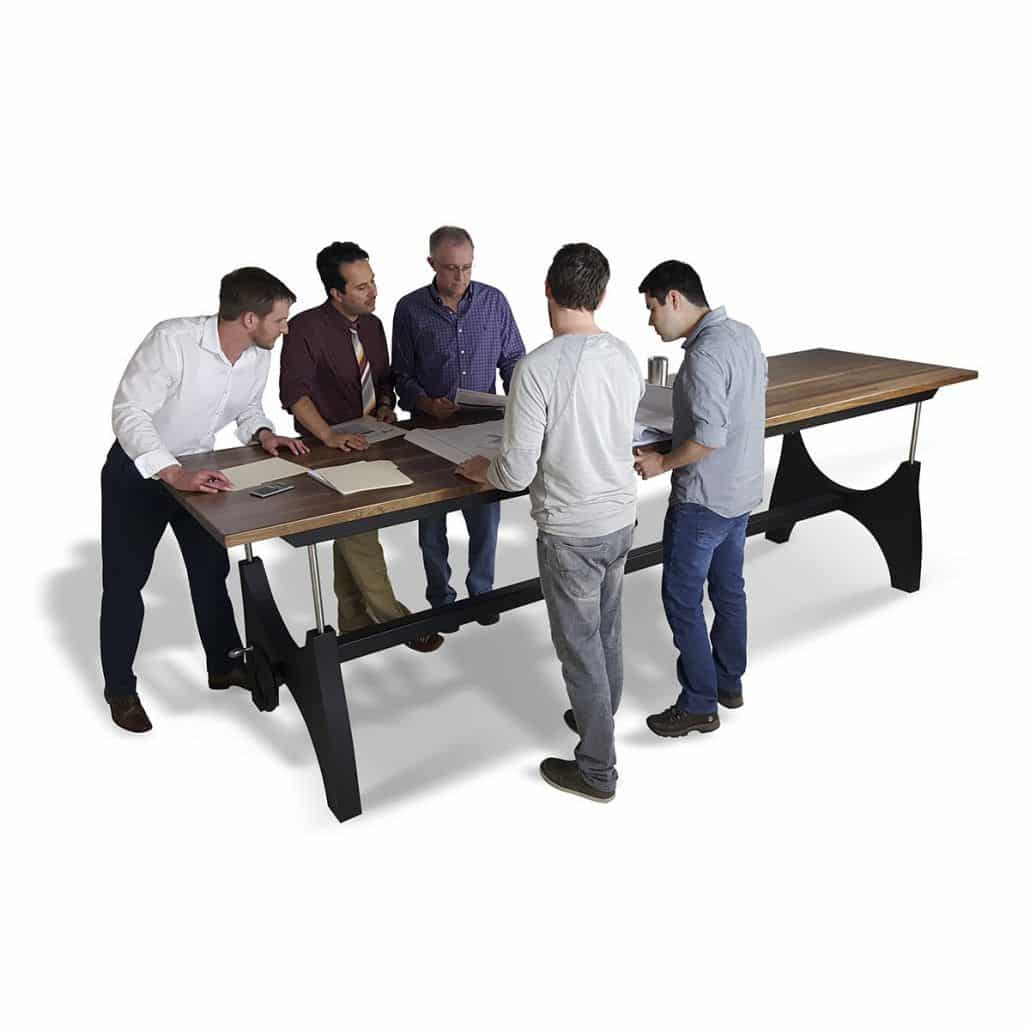 height adjustable standing table