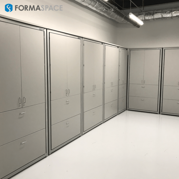 locking storage cabinets for a lab