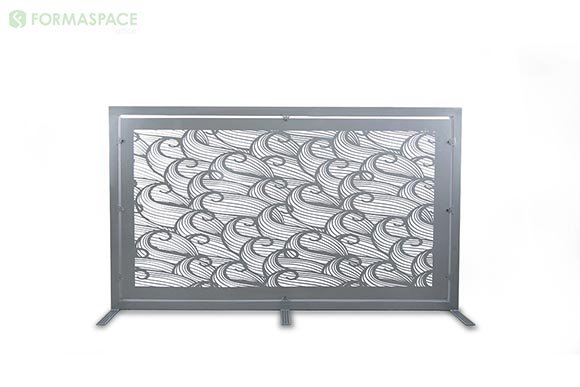 silver gray wave gallery panel