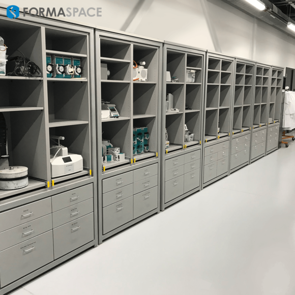 storage wall for lab instrument producer