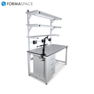 monitor mount workbench for tech lab