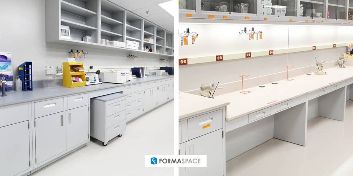 Formaspace food testing laboratory installation at the DoD facility Food Analysis and Diagnostic Laboratory (FADL) at Ft. Sam Houston in San Antonio, Texas