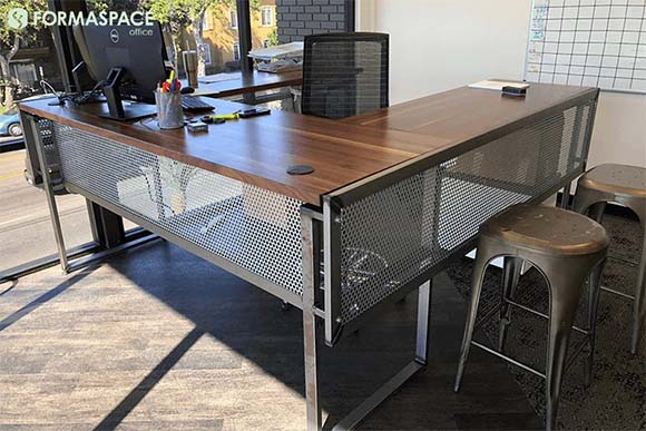 custom private desk