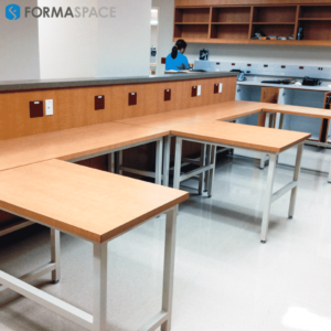 Modular L-Shaped Laboratory Stations