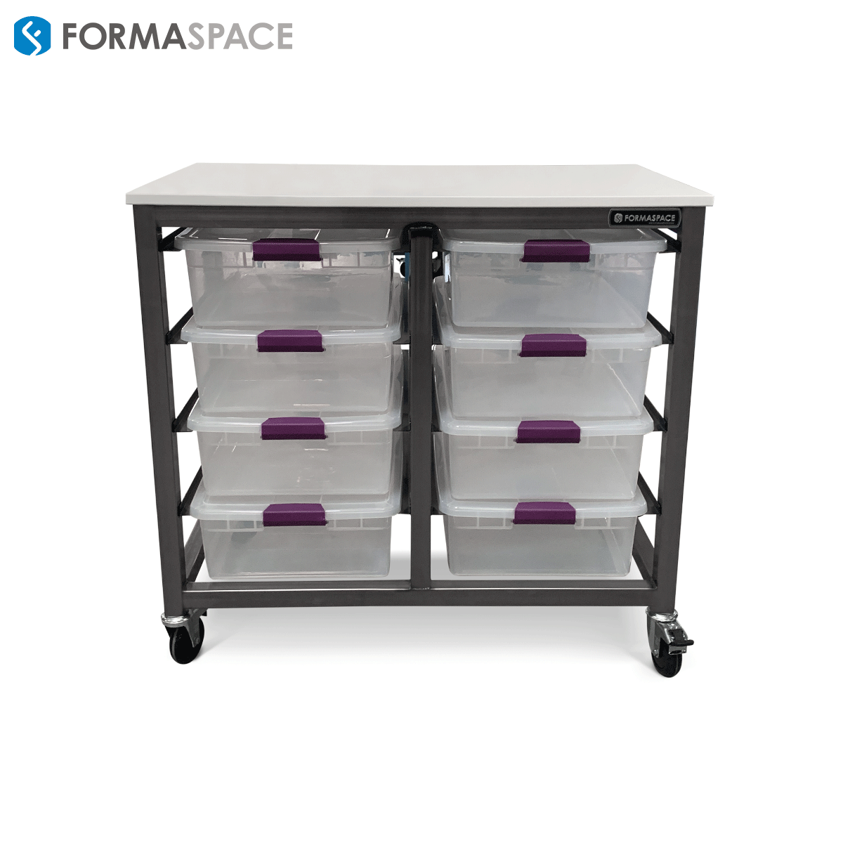 Mobile Utility Cart with 8 Drawers