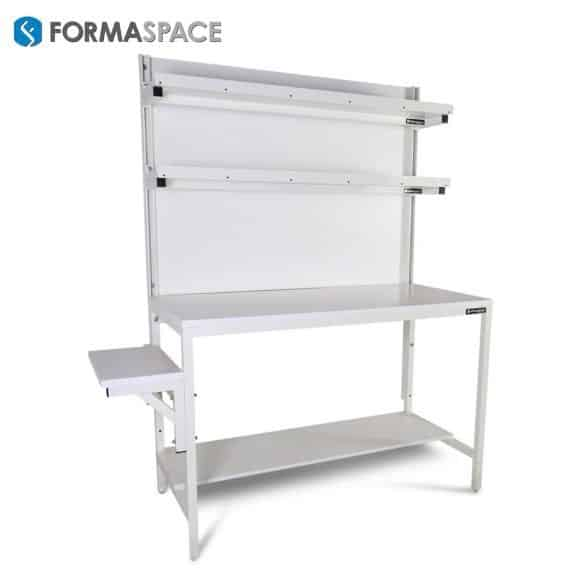 Material Handling Benchmarx with Side Printer Shelf