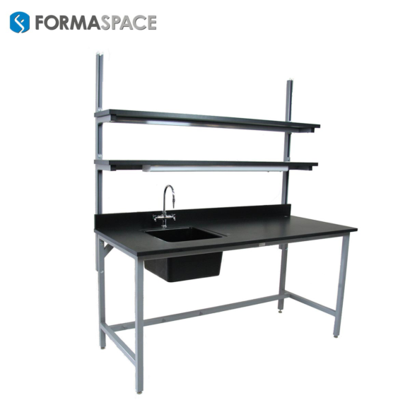 Chemical Resistant Wet Lab Bench with Sink