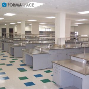Casework with Stainless Steel Countertop & Reagent Shelves