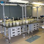 Height Adjustable Phenolic Laboratory Workbench