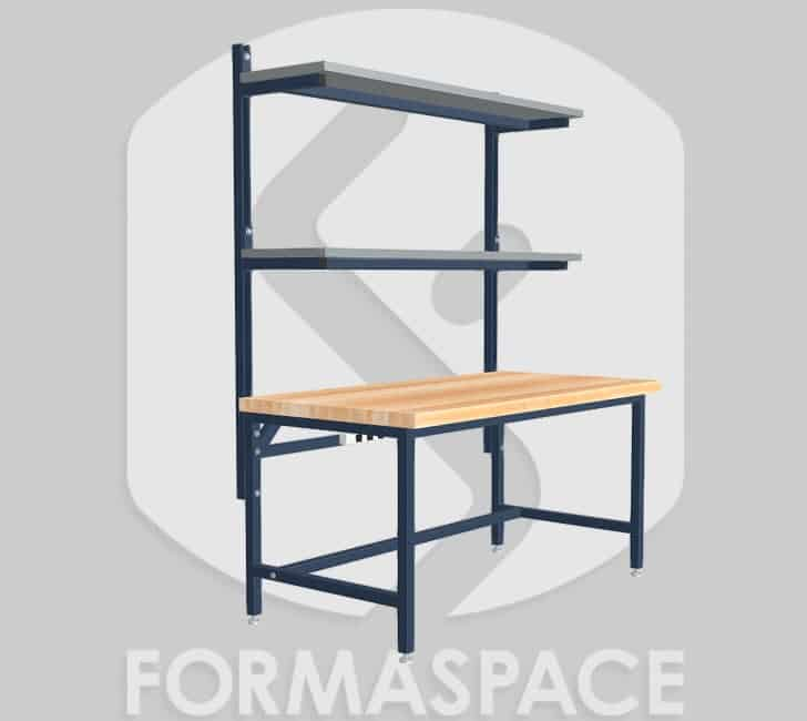 smartship desk with upper shelves