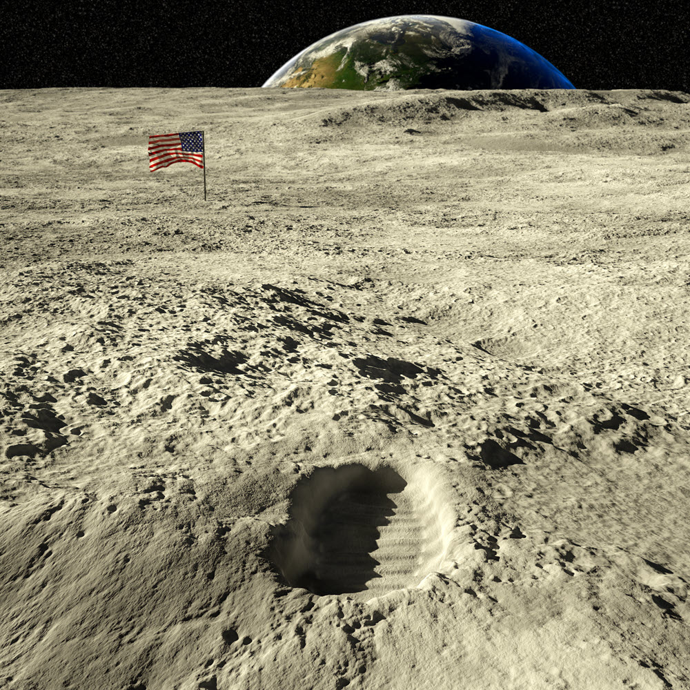 space race usa moon