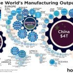 manufacturing output world map
