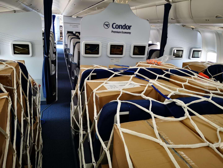 condor aircraft converted to cargo shipments