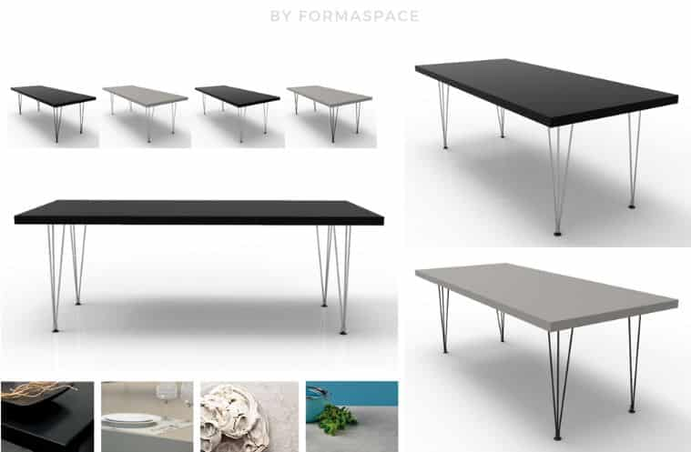 mid-century modern residental tables