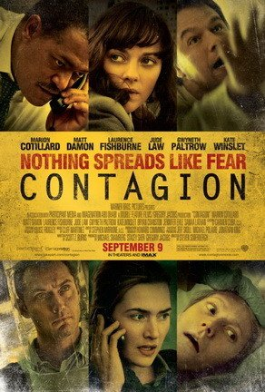British actress Kate Winslet, who portrayed the character Erin Mears, consulted with Rear Admiral Anne Schuchat, MD when preparing for her film role in the 2011 film Contagion. Poster image courtesy Warner Bros.