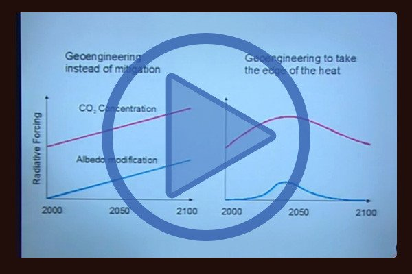 Environmental scientist David Keith Geo-Engineering proposal: Ash in the Sky