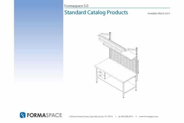 Cover of the new Formaspace 5.0 Standard Catalog Products. Click image to open PDF in new window.