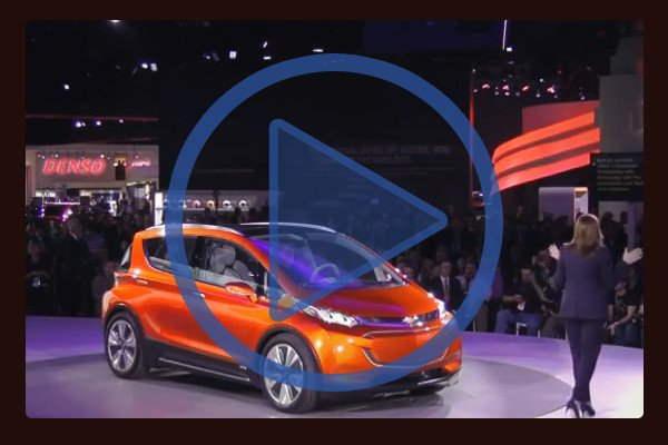 General Motors CEO Mary Barra has introduced the Chevrolet Bolt at the Detroit Auto Show.