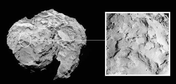 Philae Landing Site. Credit: ESA/Rosetta/MPS for OSIRIS Team MPS/UPD/LAM/IAA/SSO/INTA/UPM/DASP/IDA