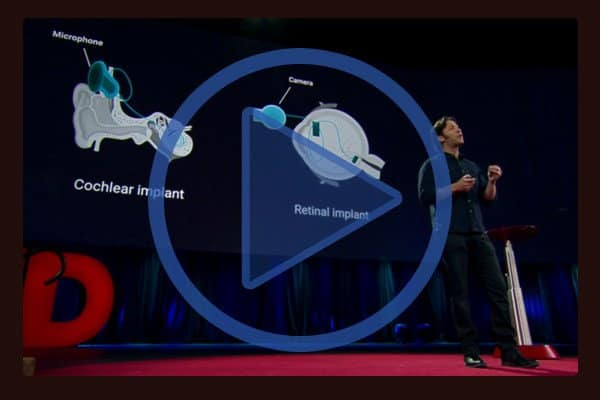"You may recognize David Eagleman from his six part PBS series ""The Brain"". At TED Eagleman demonstrates a vibrating vest, which can help deaf people interpret sound."
