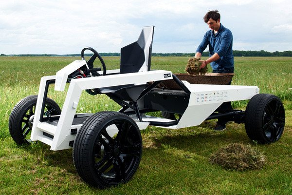 "In Germany, the ""Kulan"" design prototype won a competition held by Poly-Lab.Net  for the best agricultural design idea. The Kulan weighs only 300kg but can carry up to one metric ton of material."