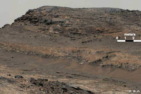 NASA Mars Rover Curiosity sends us the latest tantalizing landscape photography of Mount Sharp, taken with the cameras Mast Cam. We can only assume virtual-reality hiking of Mars is already in development. Click image for more information.