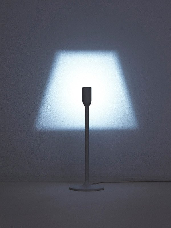 One of our favorite designs was by the Japanese design firm YoY. It's a discreet lighting projector which projects the image of a traditional lampshade onto the wall. Image courtesy http://yoy-idea.jp